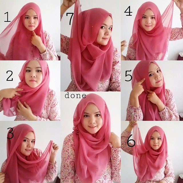 Beautiful Pink Hijab Tutorial For Spring | Hijab Fashion ...
