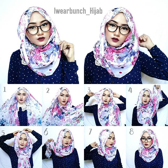 Simple Hijab Tutorial For Glasses Hijab Fashion Inspiration