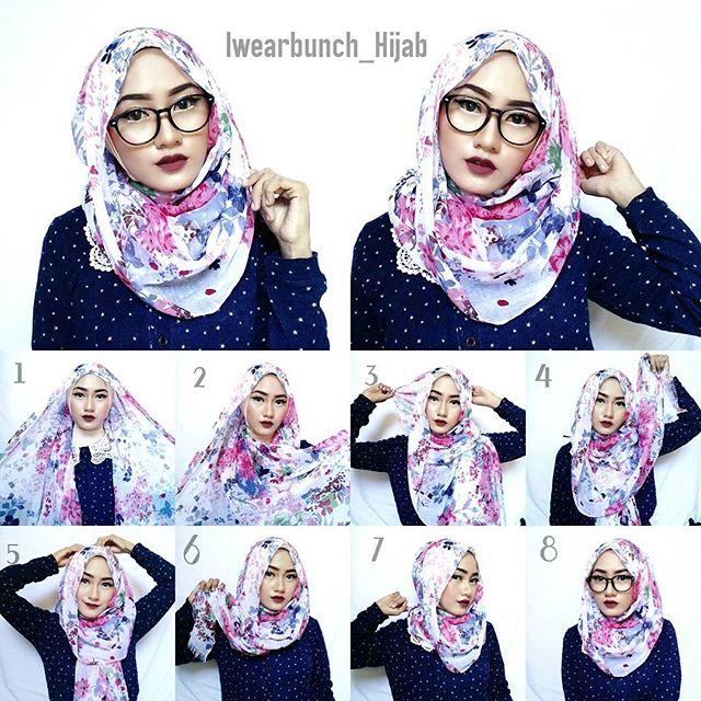 Simple Hijab Tutorial For Glasses Hijab Fashion Inspiration