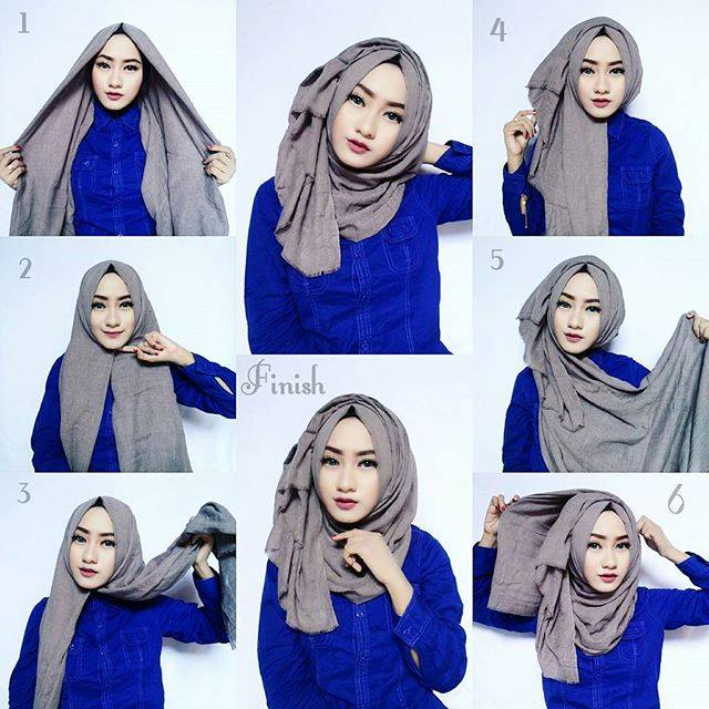 Classic Hijab Tutorial With Volume | Hijab Fashion Inspiration