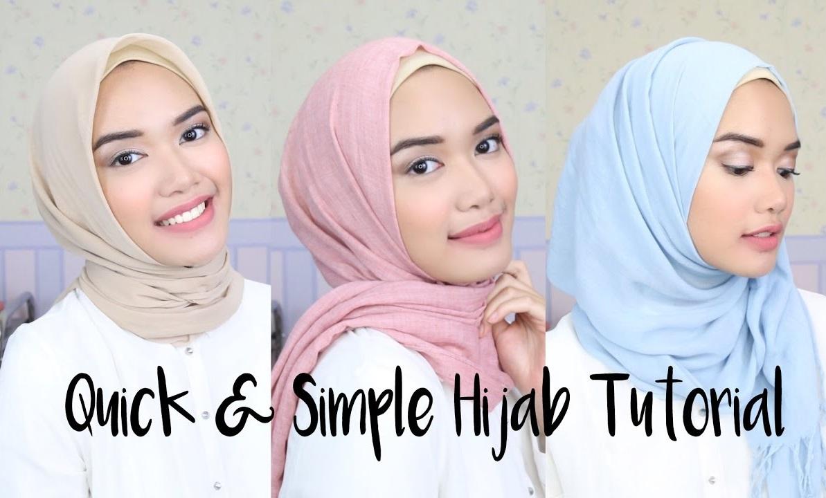 3 Quick And Simple Hijab Tutorials Hijab Fashion Inspiration