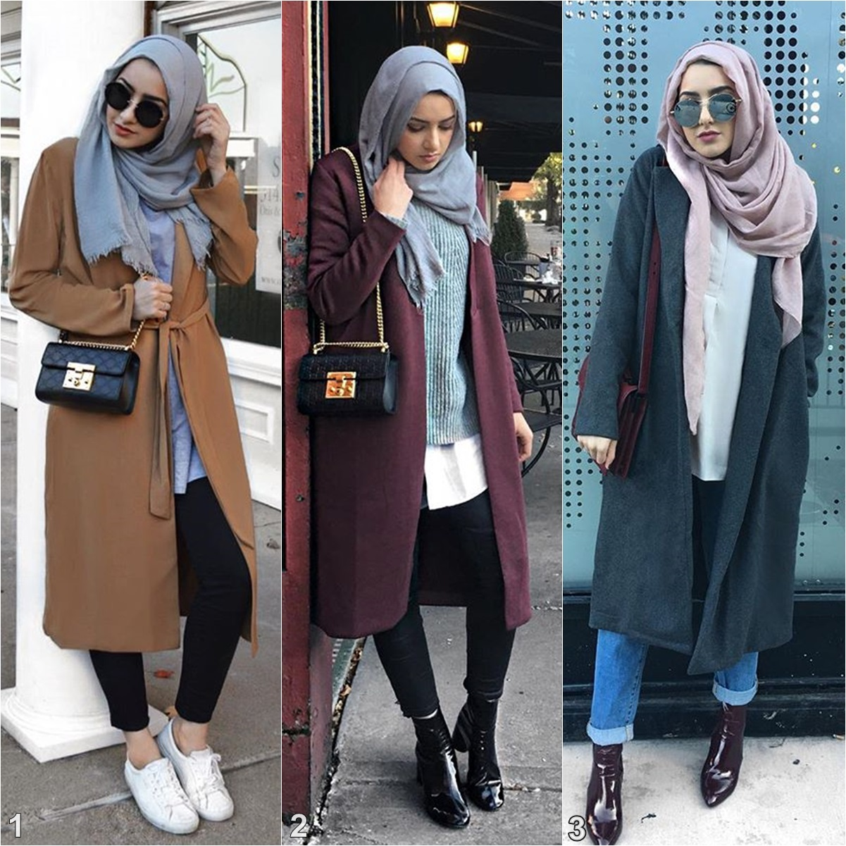 Step Into Winter With Summer Albarcha Outfits Inspiration Hijab Fashion Inspiration