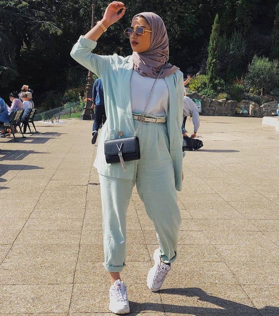mint hijab outfit