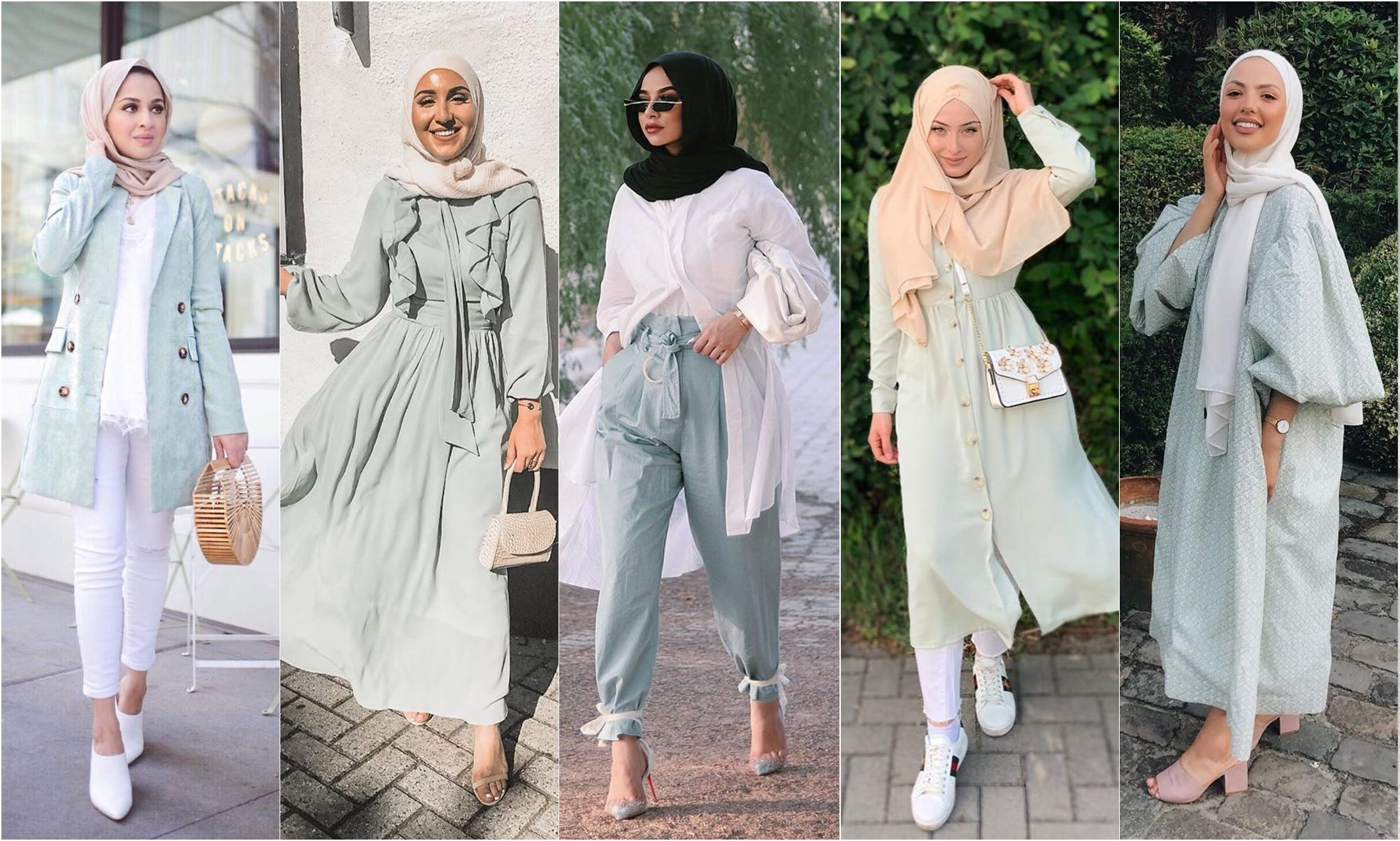 All The Ways To Wear Fresh Mint Outfit Trends - Hijab Fashion