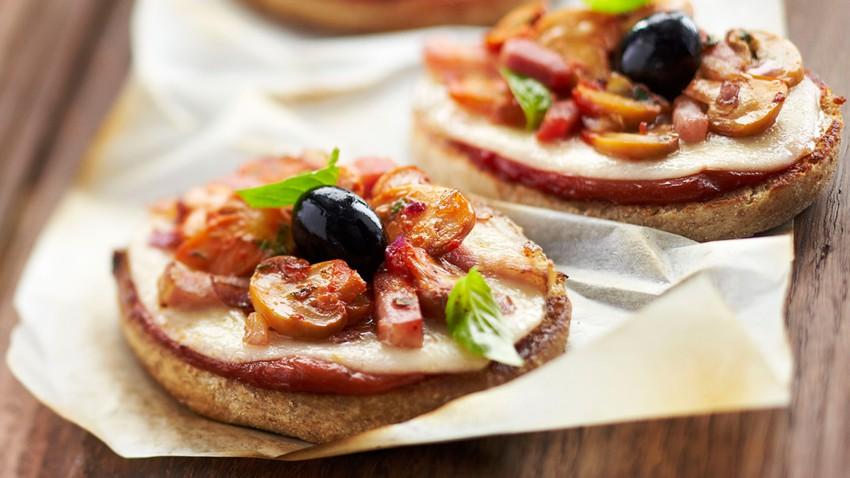 mini pizza mushrooms