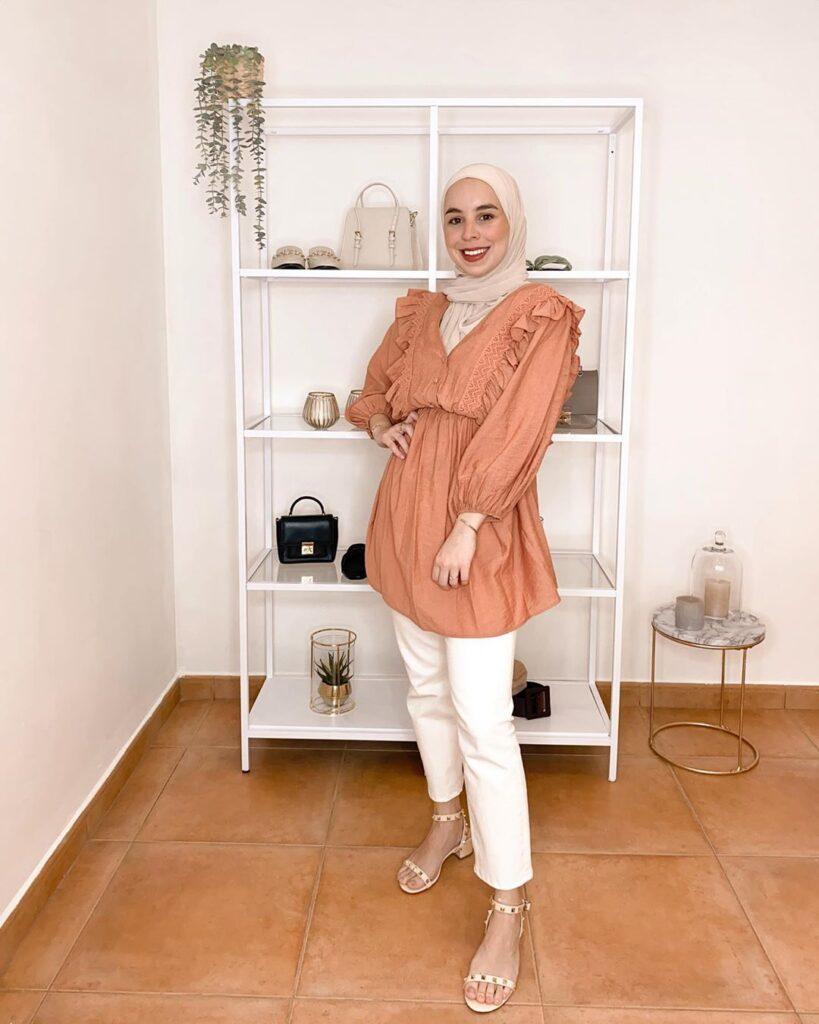 peach hijab