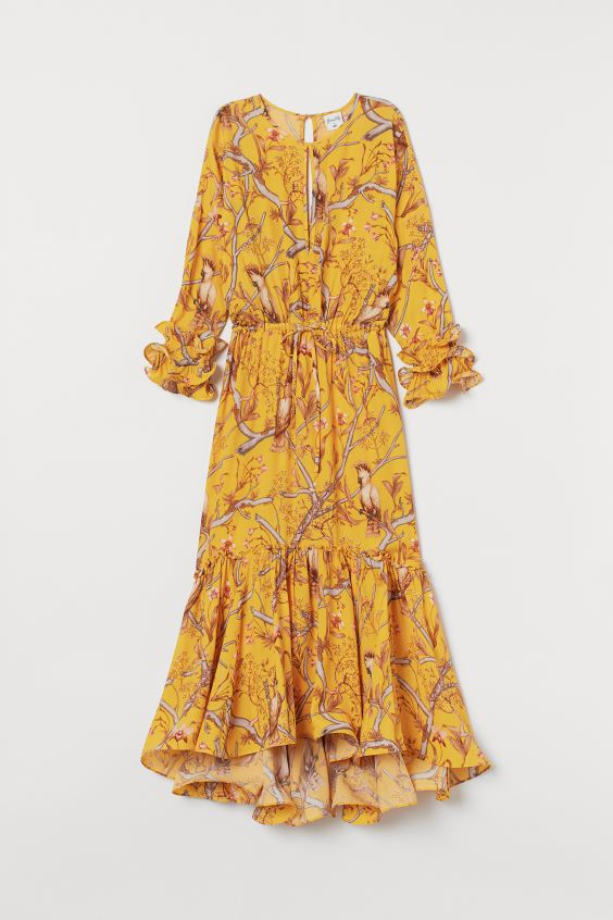 maxi dress yellow