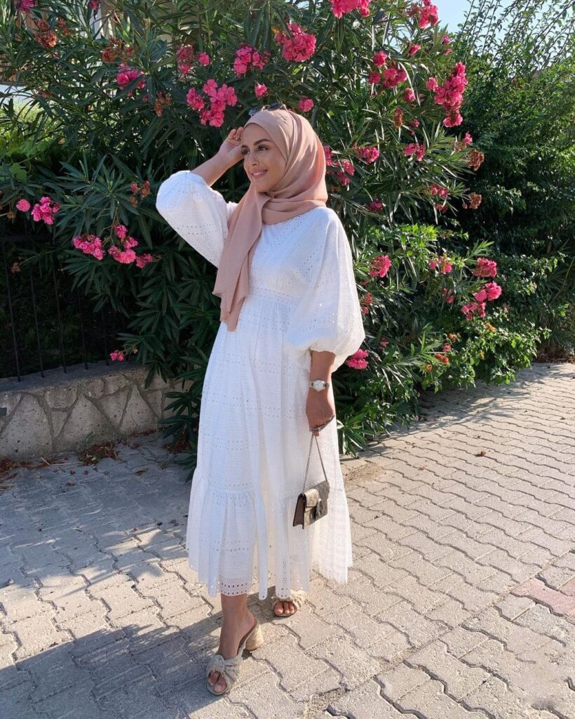 pink hijab outfit
