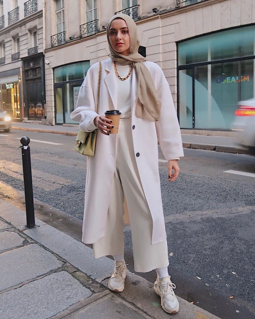 winter hijab look